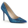 CLASSIQUE-20 Blue Glitter Lame